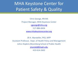 MHA Keystone Center for Patient Safety & Quality