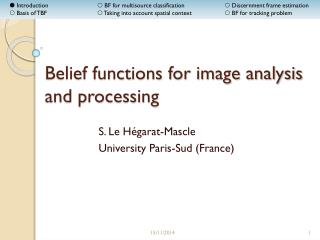 Belief functions for image analysis and processing