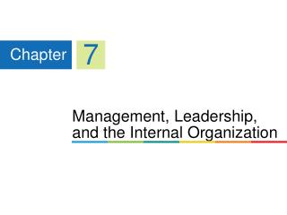 Management, Leadership, and the Internal Organization