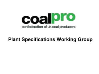 Plant Specifications Working Group