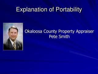Explanation of Portability