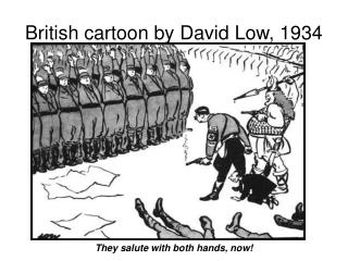 British cartoon by David Low, 1934