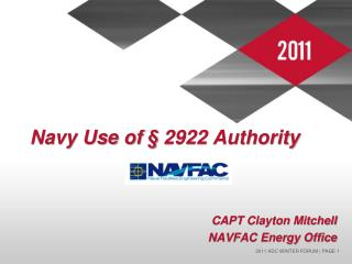 Navy Use of § 2922 Authority