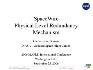 SpaceWire  Physical Level Redundancy Mechanism