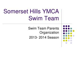 Somerset Hills YMCA Swim Team