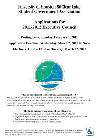 Applications for  2011-2012 Executive Council