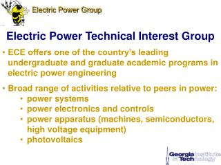 Electric Power Technical Interest Group