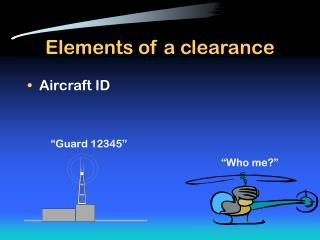 Elements of a clearance