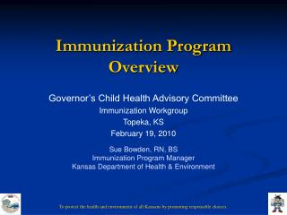 Immunization Program Overview