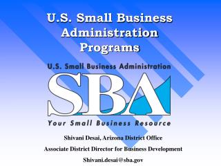 U.S. Small Business Administration Programs