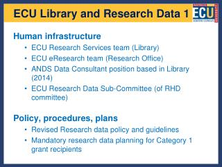 ECU Library and Research Data 1