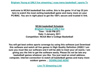 Brigham Young at UNLV live streaming | ncaa mens basketball
