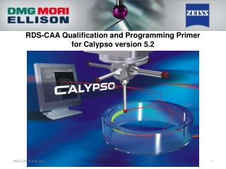 RDS-CAA Qualification and Programming Primer for Calypso version 5.2