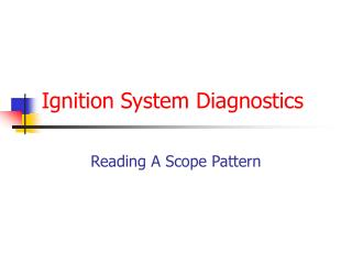 Ignition System Diagnostics
