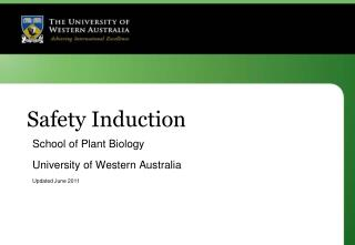 Safety Induction