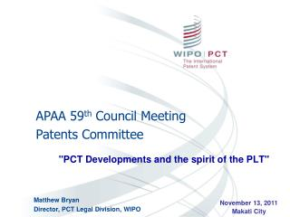 """PCT Developments and the spirit of the PLT"""