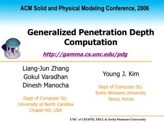 Generalized Penetration Depth Computation