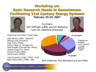 Co-chairs: Don DePaolo (LBNL and UC Berkeley) Lynn Orr (Stanford University)