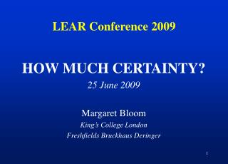 LEAR Conference 2009