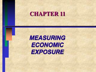 MEASURING ECONOMIC EXPOSURE