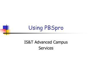 Using PBSpro
