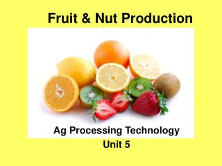 Fruit & Nut Production