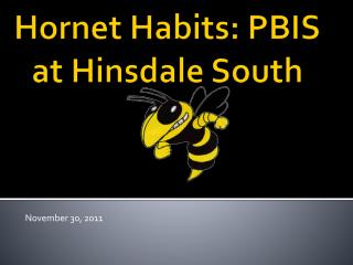Hornet Habits: PBIS at Hinsdale South