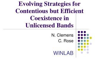 Evolving Strategies for Contentious but Efficient Coexistence in Unlicensed Bands