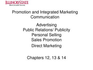 Promotion and Integrated Marketing Communication