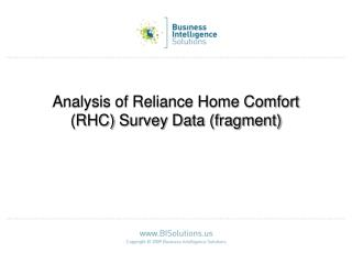 Analysis of Reliance Home Comfort RHC Survey Data fragment