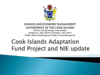 Cook Islands Adaptation Fund Project and NIE update