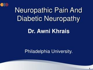 Neuropathic Pain And Diabetic Neuropathy