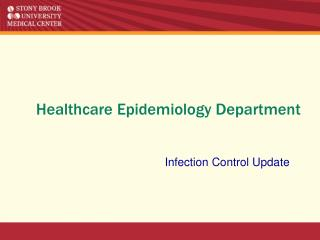 Healthcare Epidemiology Department