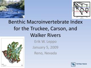 Benthic Macroinvertebrate Index  for the Truckee, Carson, and Walker Rivers