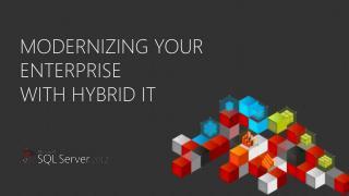 Modernizing your enterprise with hybrid it