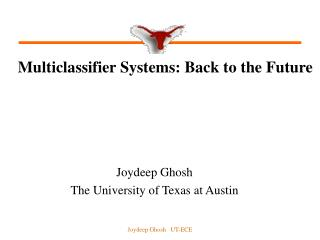 Multiclassifier Systems: Back to the Future