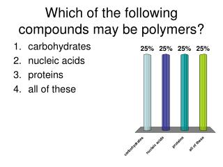 Which of the following compounds may be polymers?