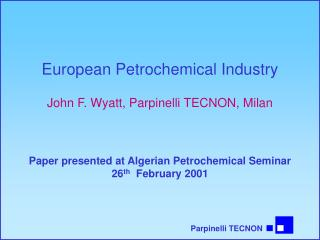 European Petrochemical Industry
