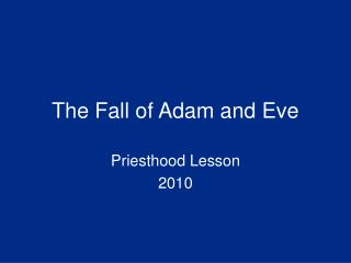 The Fall of Adam and Eve