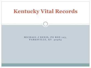 Kentucky Vital Records