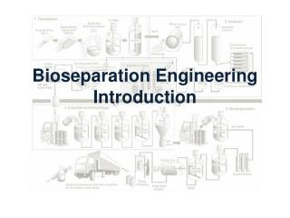 Bioseparation  Engineering Introduction