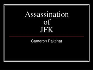 Assassination  of  JFK