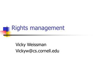 Rights management