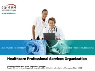 Professional Services Organization Overview