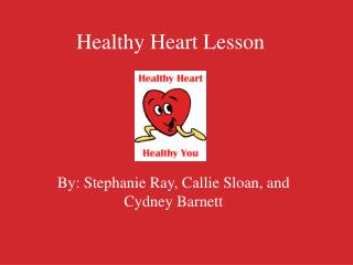 Healthy Heart Lesson