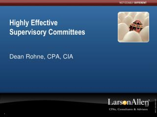 Highly Effective  Supervisory Committees