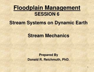 Floodplain Management SESSION 6