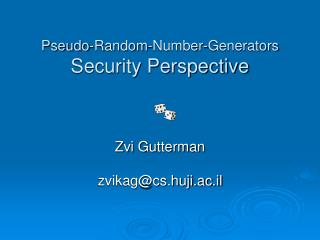 Pseudo-Random-Number-Generators  Security Perspective