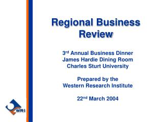 Regional Business Review
