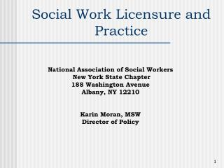 Social Work Licensure and Practice
